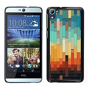 """Pulsar Snap-on Series Teléfono Carcasa Funda Case Caso para HTC Desire D826 , 3D del trullo en colores pastel Naranja Marrón"""""""