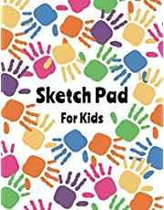 """Sketch Pad for Kids: Large Notebook for Drawing, Doodling or Sketching - 108 Blank Pages, White Paper 8.5"""" x 11"""" 