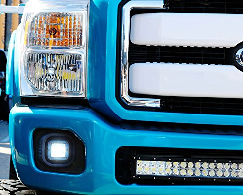 iJDMTOY Complete 40W High Power CREE LED Fog Light Kit w/ Fog Lamp Location Mounting Brackets For 1999-2016 Ford F-250 F-350 F-450 Super Duty by iJDMTOY (Image #8)