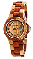 Tense Inlaid Multicolored Natural Wood Watch Hypoallergenic G4100I ANLF from Tense