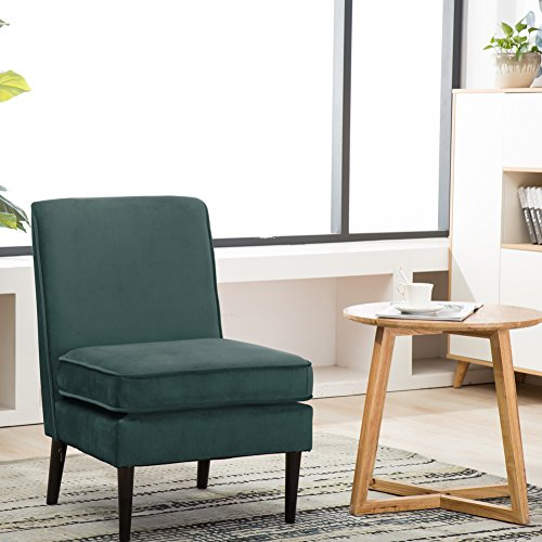 51bLP4cNlGL - Armless Accent Chair Modern Living Room Chairs Teal Pack of 1