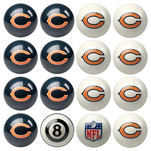 Chicago Bears NFL Billiard Pool Ball Set by Imperial