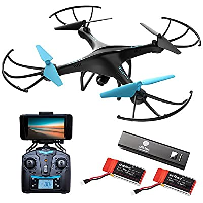 Force1 Drone with Camera Live Video - Cool WiFi FPV Quadcopter & Smartphone Remote Control - RC Robot Hover Toys for Adults, Teens, Kids, Boys & Girls w/Extra Battery for Indoor and Outdoor Games by Force1