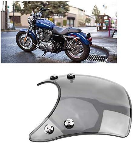 Duokon Universal Motorrad Verstellbare Clip On Windschutzscheibe Erweiterung Spoiler Windschutzscheibe Zubehör Brown Auto