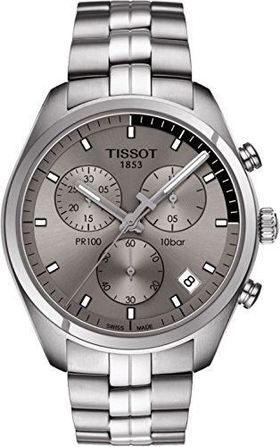 Tissot Men's Quartz Stainless Steel Casual Watch, Color:Grey (Model: T1014171107100)