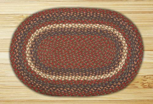 Earth Rugs Oval Rug, 4 x 6 , Burgundy Gray
