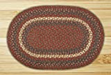 Earth Rugs 09-040 Oval Area Rug, 6 by 9′, Burgundy/Gray Review