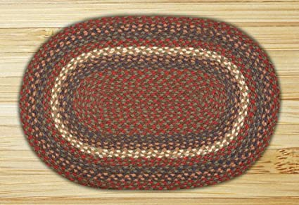 Amazoncom Earth Rugs 09 040 Oval Area Rug 6 By 9 Burgundygray