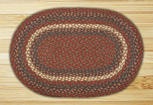 Earth Rugs Oval Area Rug, 6 by 9 , Burgundy Gray