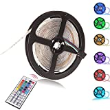 INIEIWO 5M 16.4ft 5050 RGB SMD 300LED Waterproof Flexible Strip Light ...