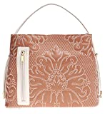 Samoe Style Sandy Brown and Cream Stitched Damask Convertible Tote
