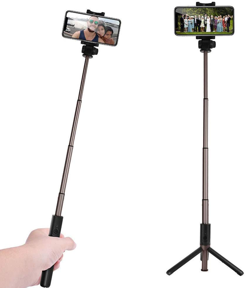 Selfie Stick Tripod Android Samsung Galaxy Huawei and Gopro//Small Camera,Black 3 in 1 Multifunctional Selfie Stick Monopod Tripod Phone Holder with Detachable Bluetooth Remote /& Light for iPhone