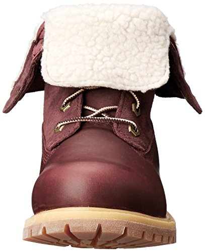 Teddy Fold Waterproof Down Timberland Fleece Burgundy Dark Boot Women's wf5tw4