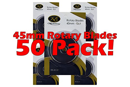 Martelli Ergo Rotary Cutter Replacement Blades 50 pack 45mm by Martelli