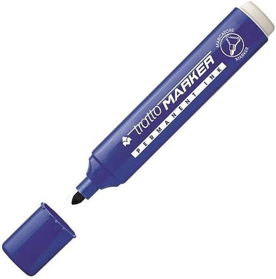 marcatore permanente tratto marker nero 1pz punta scalpello