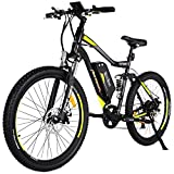 Addmotor HITHOT Electric Bicycles Mountain Full Suspension Electric Bikes 48V 500W Motor 10.4 Ah Samsung Lithium Battery Pedal Assist H1 2018 Ebikes For Men(Yellow)