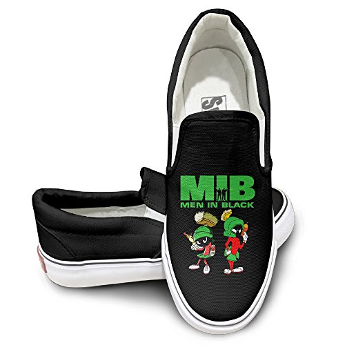 [HYRONE Men In Black Marvin The Martian Fashion Sneakers Shoes Sun Black Size 42] (Looney Tunes Martian Costume)