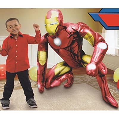 Disney Iron Man Birthday Party Balloon 46 Inches Foil Balloon Air Walker: Toys & Games