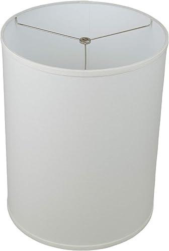 FenchelShades.com 14 Top Diameter x 14 Bottom Diameter 18 Height Cylinder Drum Lampshade USA Made Designer Linen Off White