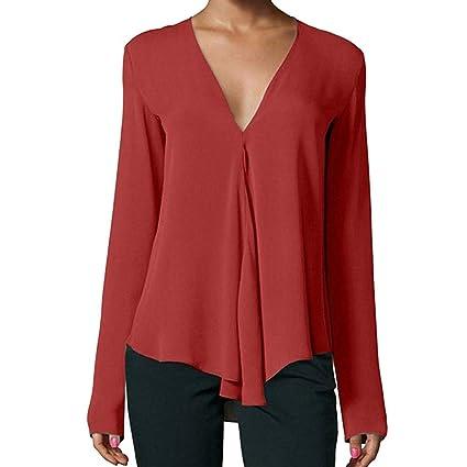 Las señoras ROJAS rematan la camiseta de la gasa de las mujeres sudadera con capucha blusa