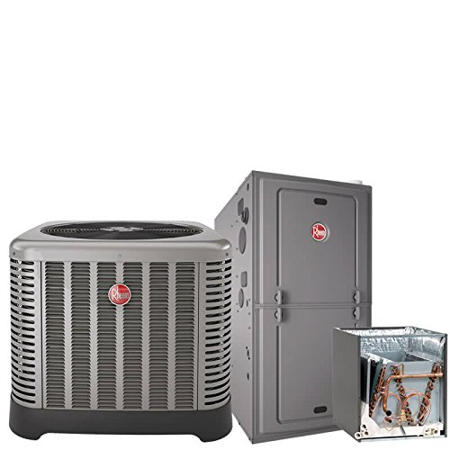 2 Ton Rheem 17 SEER R410A 80% AFUE 50,000 BTU Two-Stage Variable Speed Upflow/Horizontal Gas Furnace Split System by Rheem