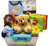 Sweet New Baby Gift Basket | Sweet Baby Boy & Sweet Baby Girl (Blue)