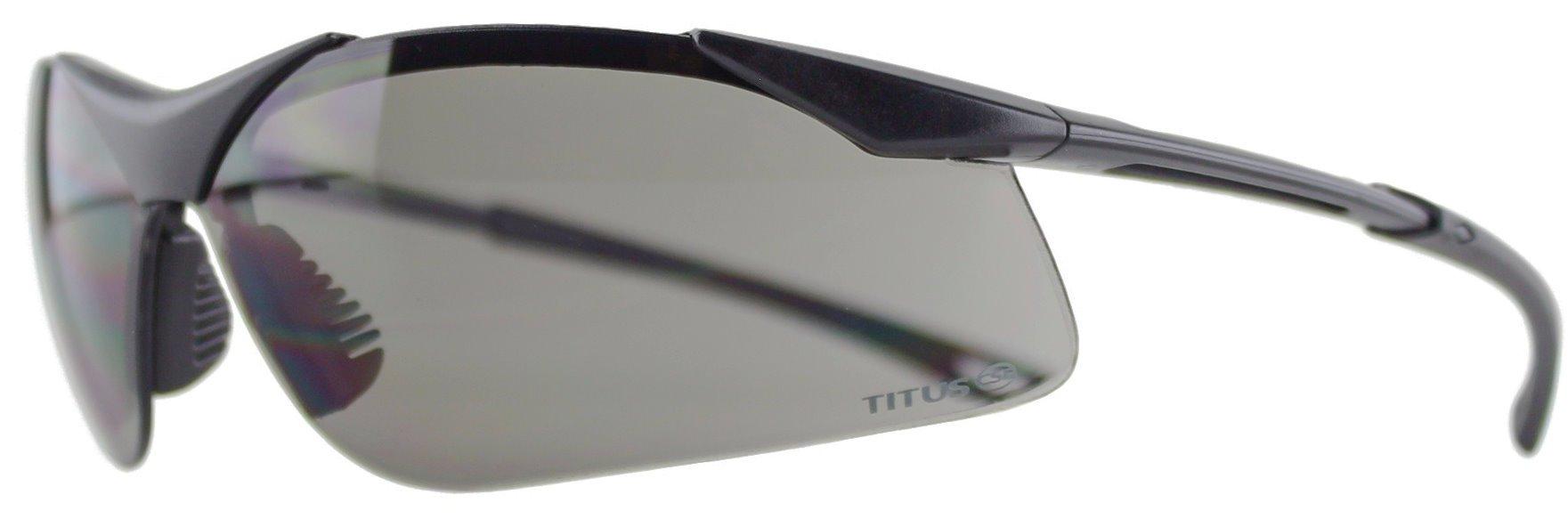 TITUS Top Combos: Safety Earmuffs & Glasses (Black Electronic - Slim, G28 Smoke EMT Professional Glasses)
