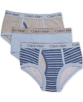 Calvin Klein Boy's Assorted 3 Pack Briefs