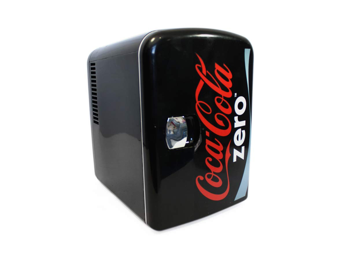 Coke Zero CZ04 Diet Coke Personal Cooler,12 volt & 110V DC for your home 6 Can Silver
