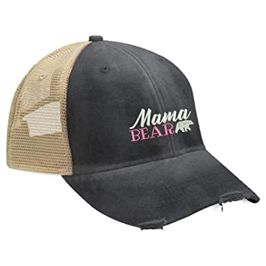 fe1a62df8a2 Piper Lou - Mama Bear Trucker Hat with Snapback Enclosure - Black at ...