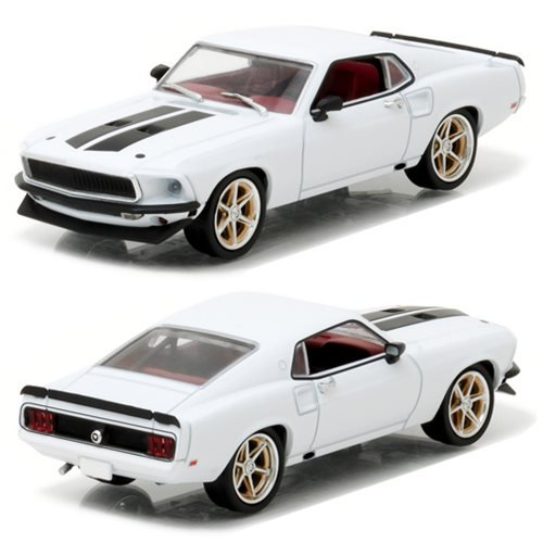 Greenlight 86236 Roman's 1969 Ford Mustang Custom Anvil Halo Fast and Furious 6 Movie (2013) 1/43 Diecast Model (Roman Six Light)