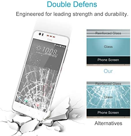 JIANGNIUS Screen Protectors 50 PCS 0.26mm 9H 2.5D Tempered Glass Film for HTC Desire 825