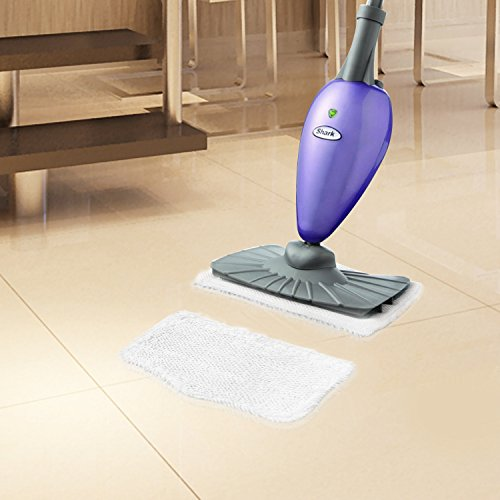 Fushing 5Pcs Household Microfiber Replacement Cleaning Steam Mop Pads for Shark Steam Mop S3101 S3202 S3250 S3251 (White) by Fushing (Image #2)