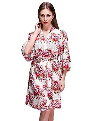 Isoft Women's Short Kimono Robe, Bridesmaid robes and gift