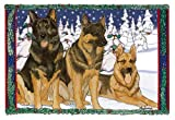 German Shepherd Christmas Cards : 10 Holiday Cards with Envelopes