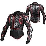 SunTime Chaqueta de Protección para Motocross Motos Ropa Protectora de Cuerpo Armadura Completo Profesional de Motocicleta Deportiva Para Hombres Columna Vertebral Hombro Pecho ( Rojo, M )