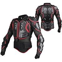 SunTime Chaqueta de Protección para Motocross Motos Ropa Protectora de Cuerpo Armadura Completo Profesional de Motocicleta Deportiva para Hombres Columna Vertebral Hombro Pecho (Rojo, L)