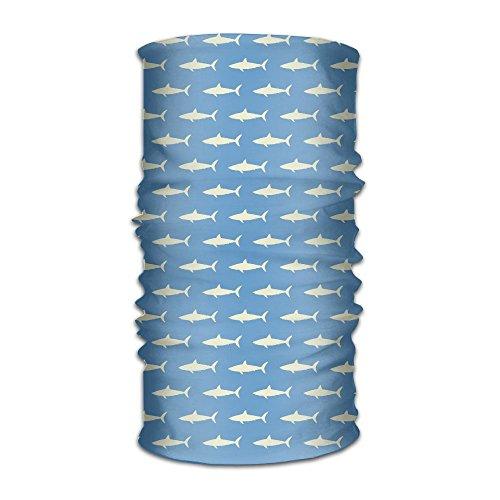 Multifunctional Headscarf Blue Yellow Fish Shark Bandanas Sweatband Elastic Turban Headwear For Men - Fish Seuss Yellow