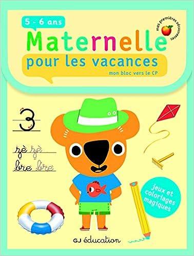 Coloriage Magique Cp Vacances.Amazon Fr Pour Les Vacances Mon Bloc Vers Le Cp Cahier