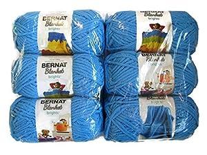Bernat Blanket Brights Yarn, 5.3oz, 6-Pack