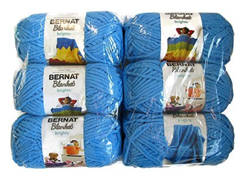 Bernat Blanket Brights Yarn, 5.3oz, 6-Pack (Busy Blue)