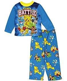 Pokemon Boys Top with Flannel Pants Pajamas