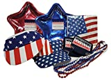 His and Hers Stars and Stripes Patriotic 50 Count Accessories and Supplies for Memorial Day, Flag Day, 4th July Set in 9 Piece Bundle