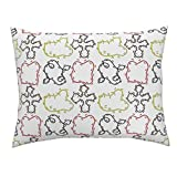 Ditsy Small Ditzy Dizzy Feet Dance Dancing Standard Knife Edge Pillow Sham Dizzy Ditsy Dances (Potty by Peacoquettedesigns 100% Cotton Sateen