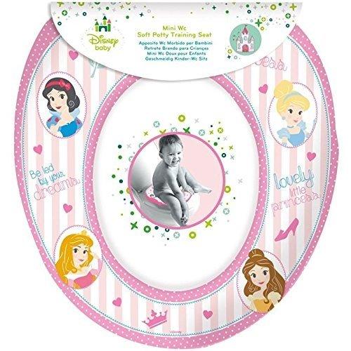 Disney Princess 'Royal' Kids Padded Toilet Seat Soft Potty Training Bath
