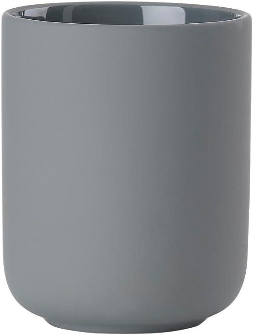 terracotta con Soft Touch circa 10/cm H Zone Spazzolino tazza Ume ZO di 381075/| 5708760660292 Grigio