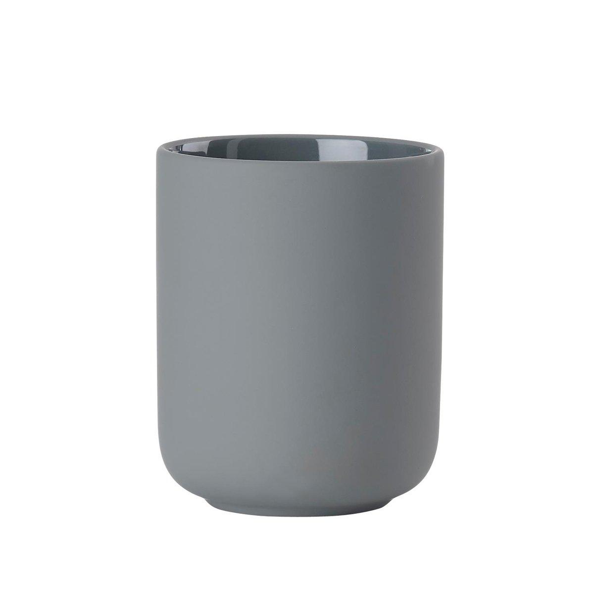 Zone Spazzolino tazza Ume, terracotta con Soft Touch, Grigio, circa 10cm H   ZO di 381075  5708760660292