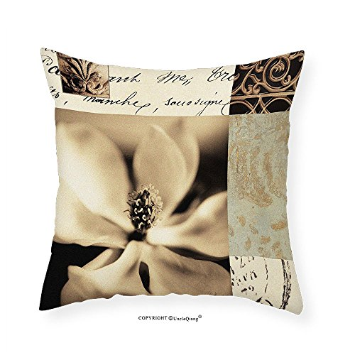 Magnolia Montage - VROSELV Custom Cotton Linen Pillowcase Fine Art Magnolia Montage Medium 28