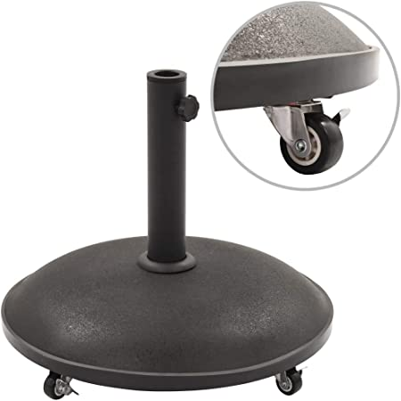 vidaxl socle de parasol noir beton rond 25 kg support de parasol pied parasol