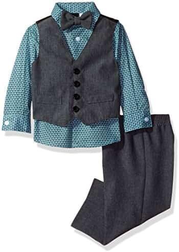 Van Heusen Baby Boys' Poplin Vest Set